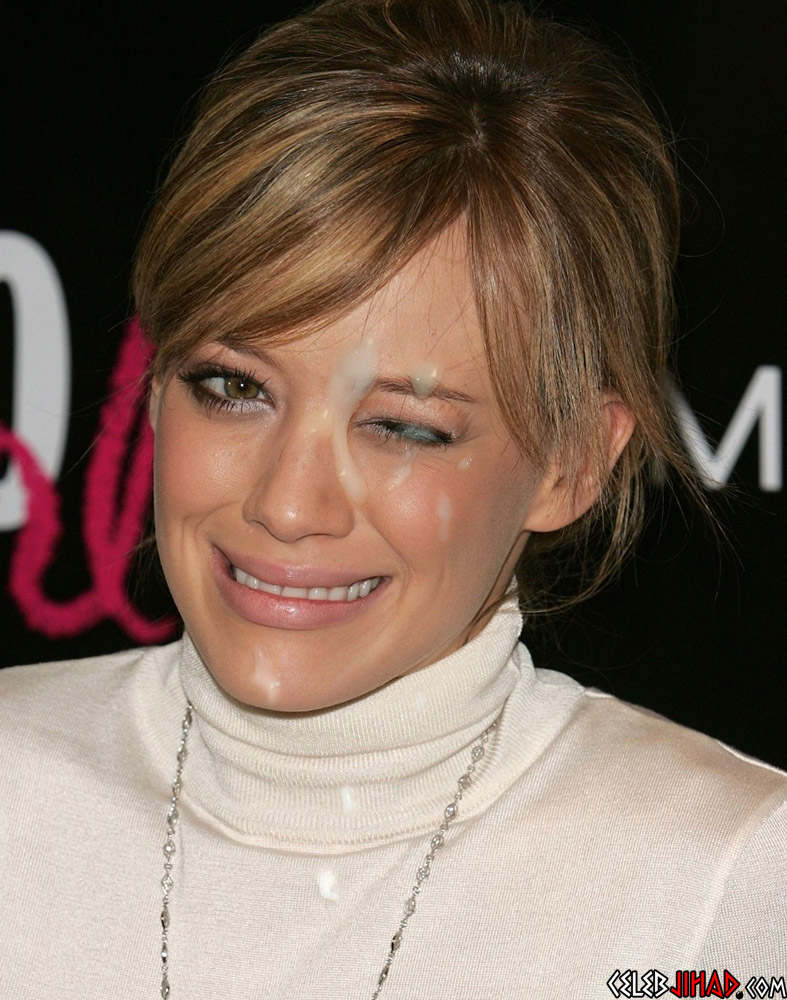 Hilary Duff facial