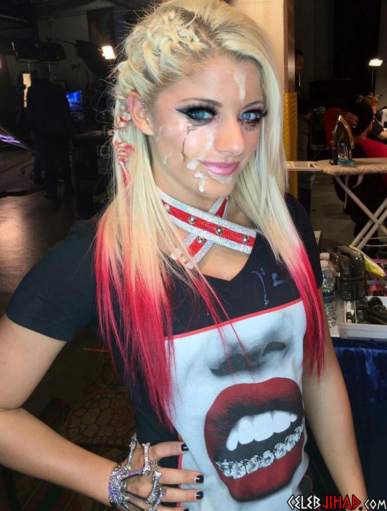 Alexa Bliss cum facial