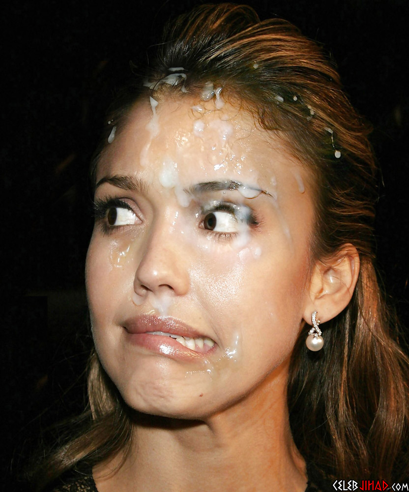 Jessica Alba cum facial