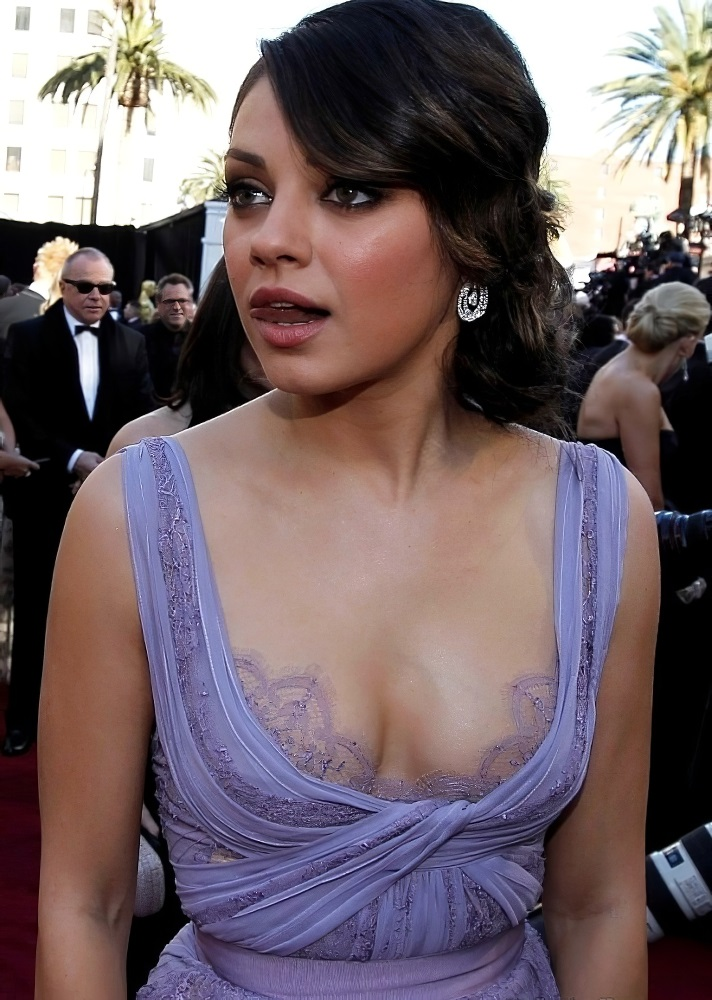 Mila Kunis tongue