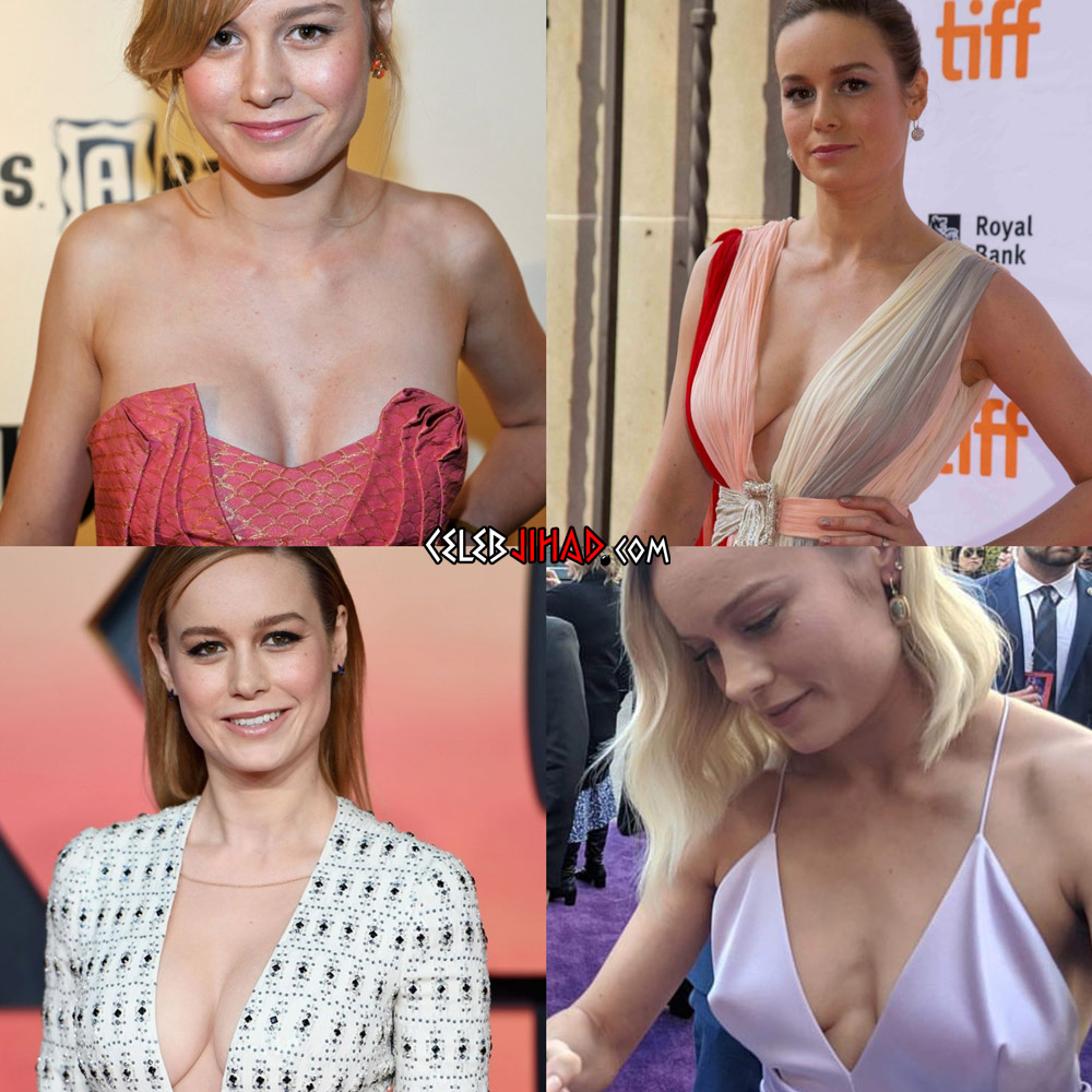 Brie Larson braless boobs