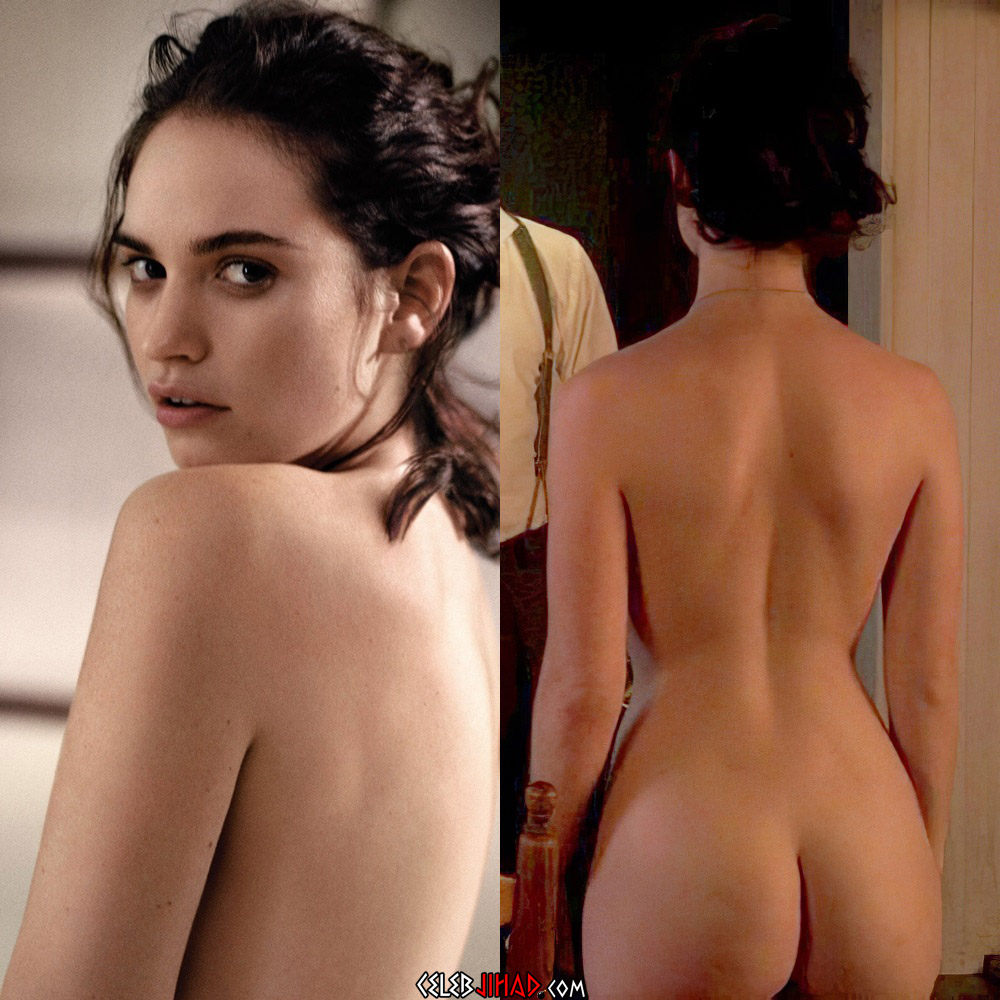 Lily James nude ass