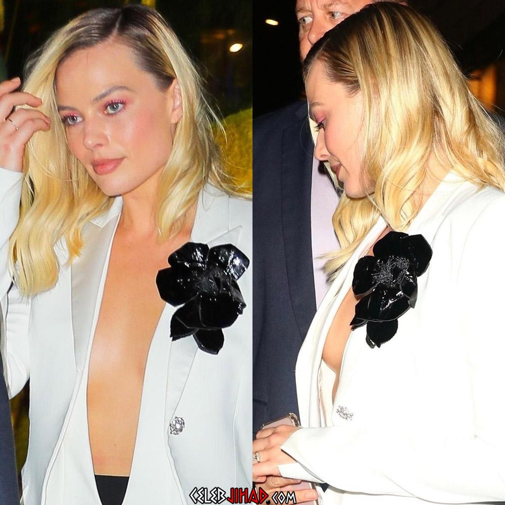 Margot Robbie sexy boobs