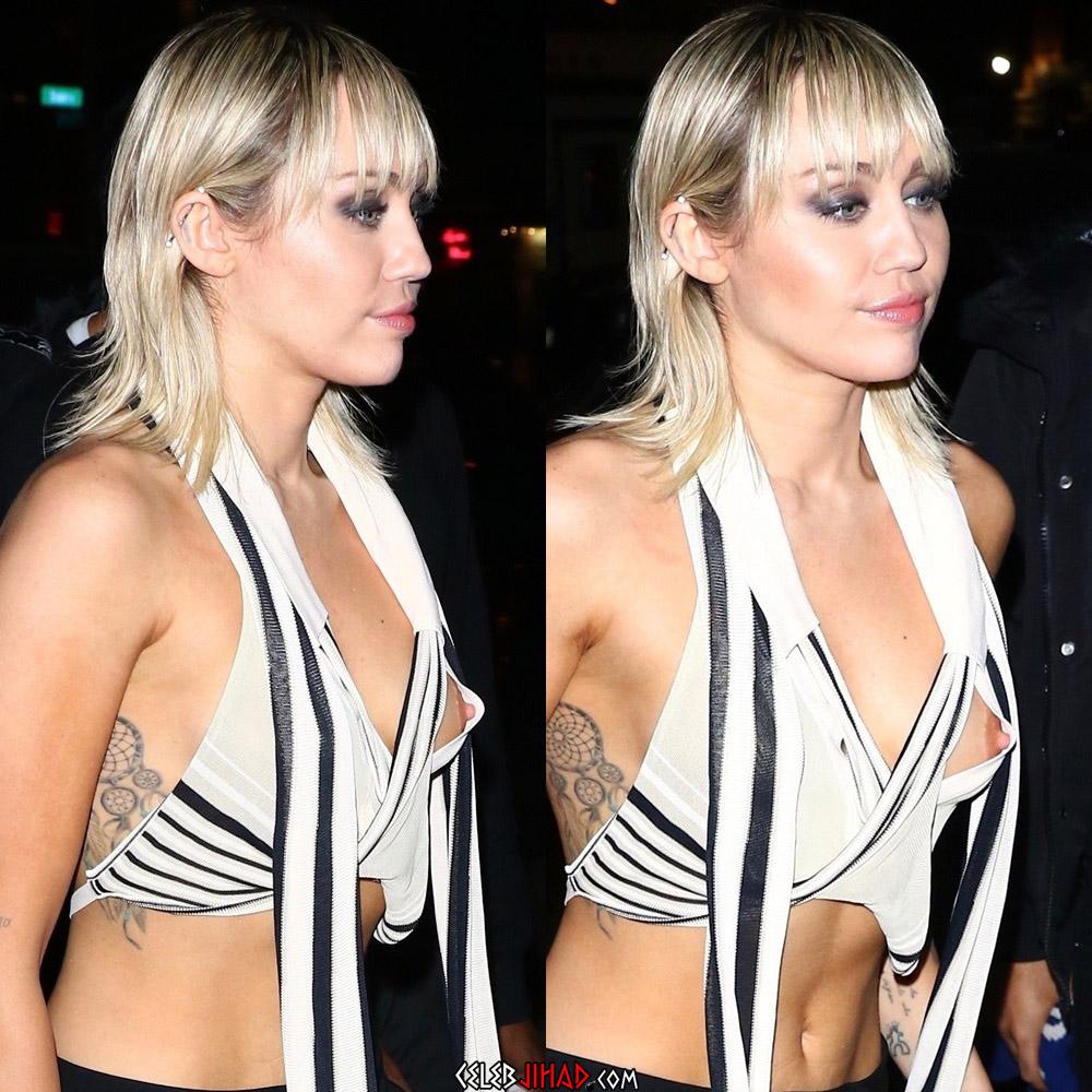 Miley Cyrus nipple slip
