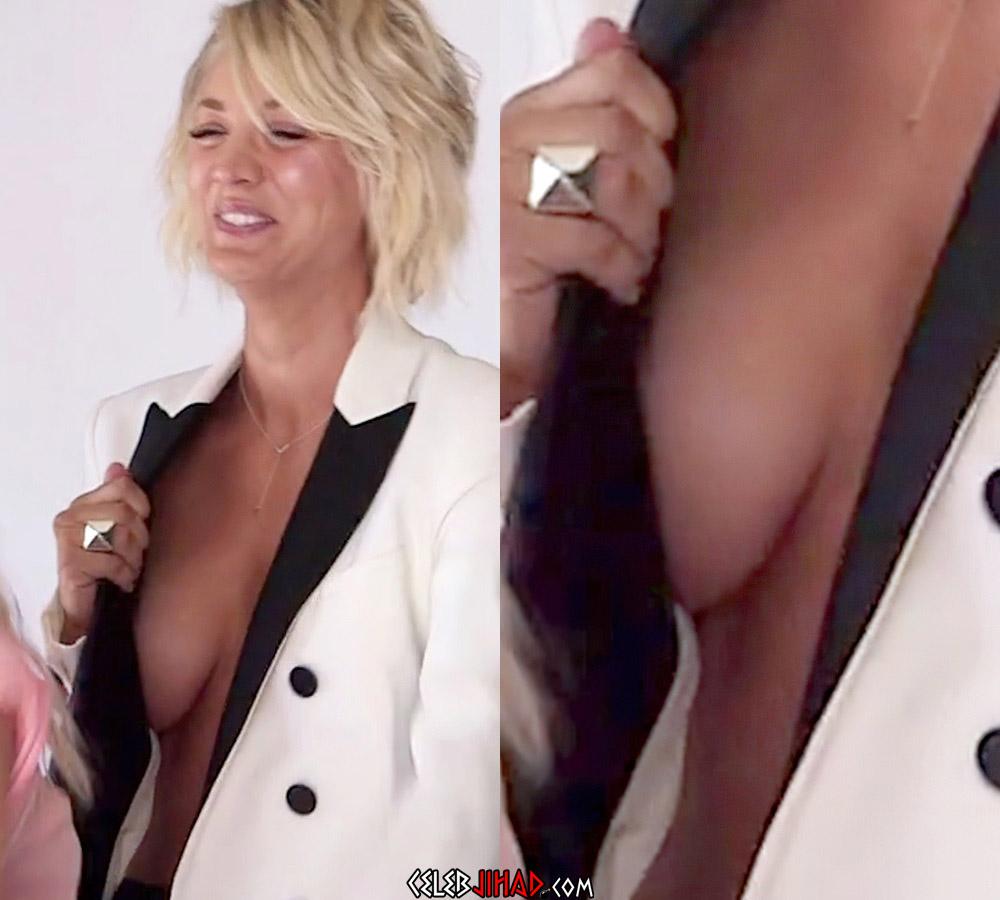 Kaley Cuoco side boob