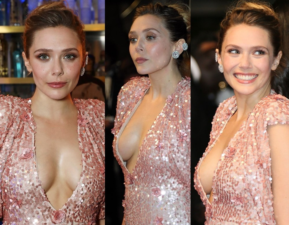 Elizabeth Olsen side boob