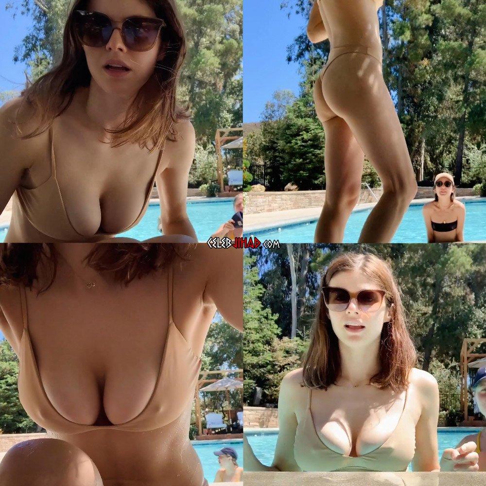 Alexandra Daddario thong bikini pokies