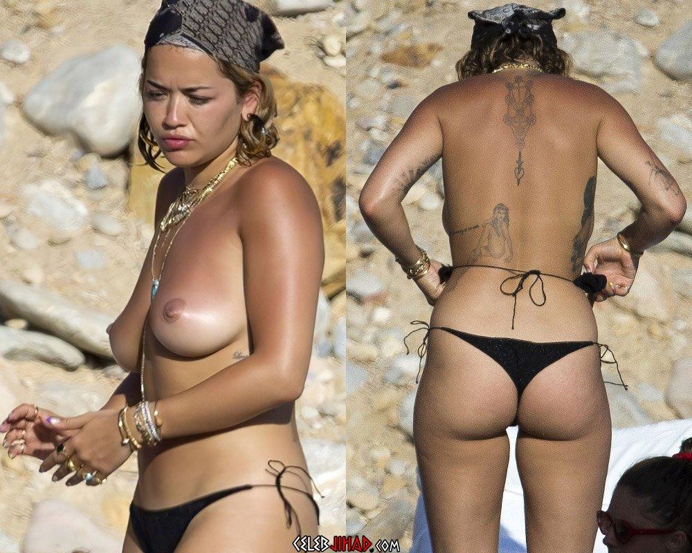 Rita Ora topless nude