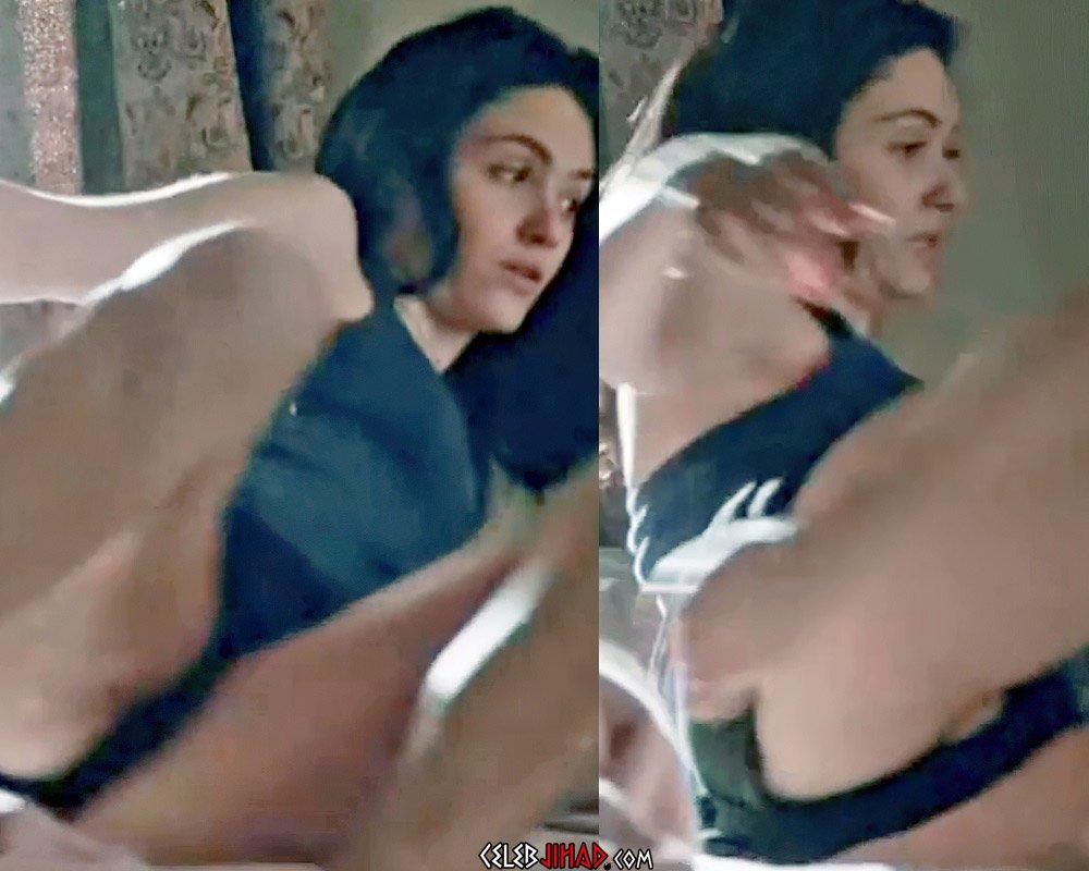 Emmy Rossum Nude Pussy Slip Enhanced