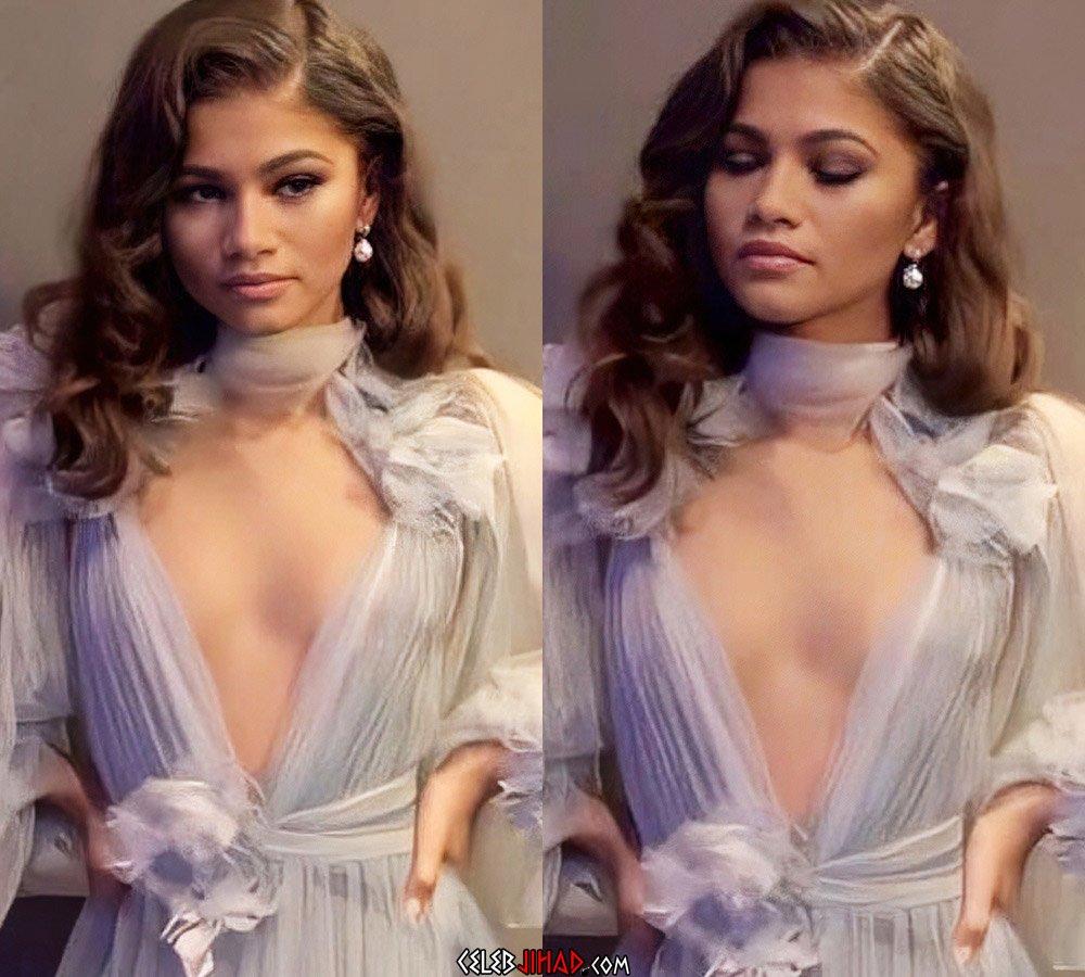 Zendaya sexy cleavage