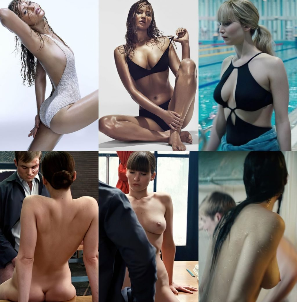 Jennifer Lawrence Nude (1 Collage)