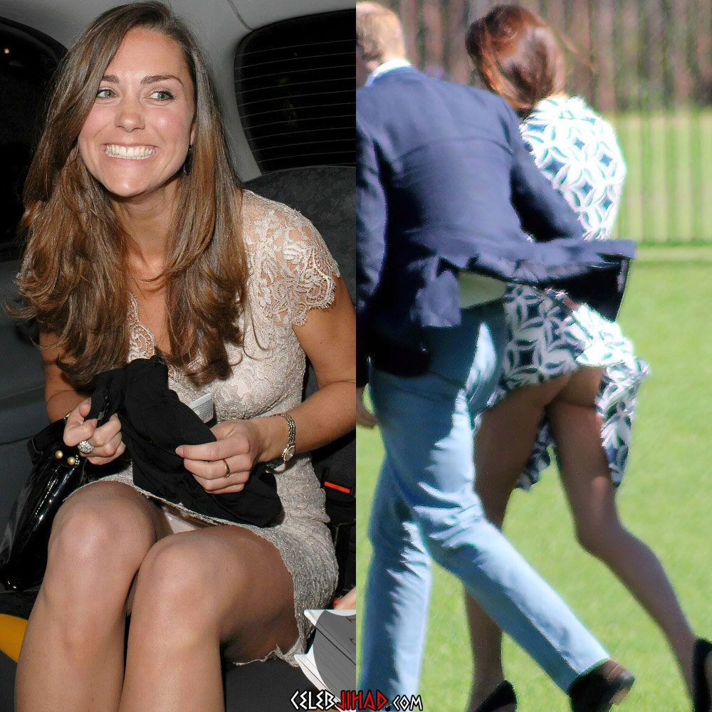 Kate Middleton upskirt panties ass