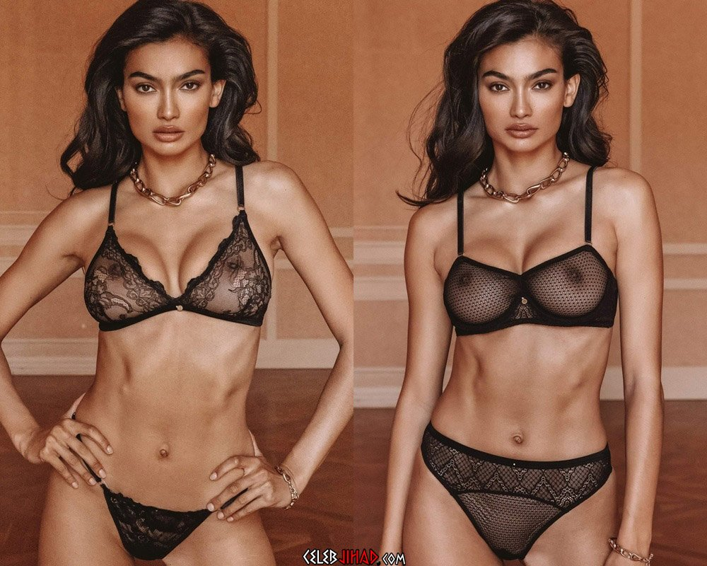 Kelly Gale Shows Off Her Tits In See Thru Lingerie
