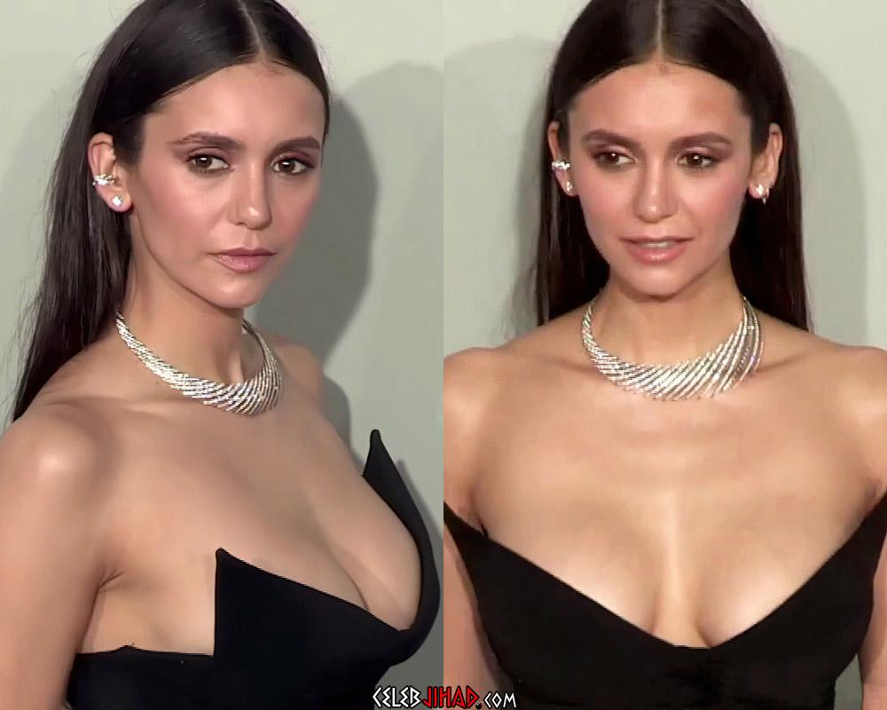 Nina Dobrev Debuts Her New Boobs At Cannes