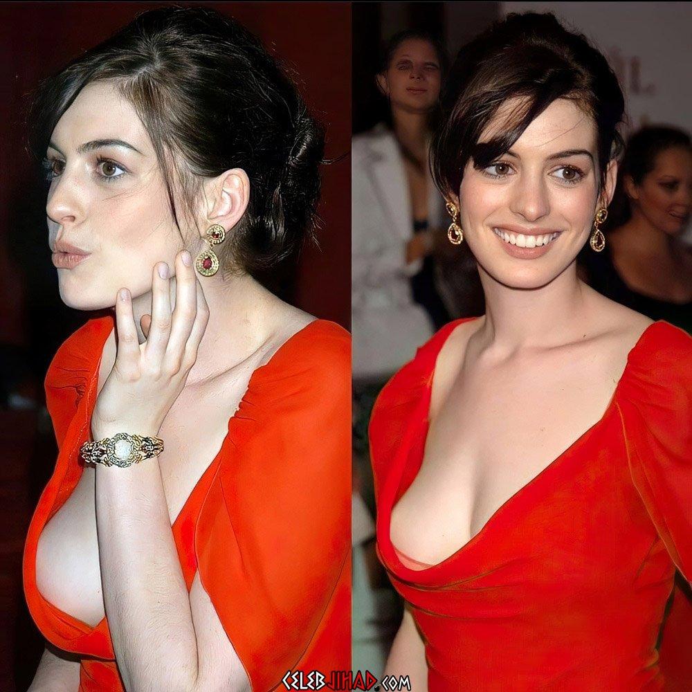 Anne Hathaway cleavage