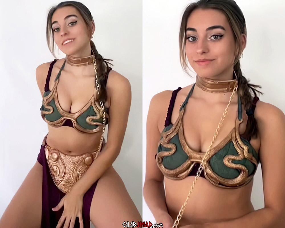 Lea Martinez Slave Leia Cosplay In HD