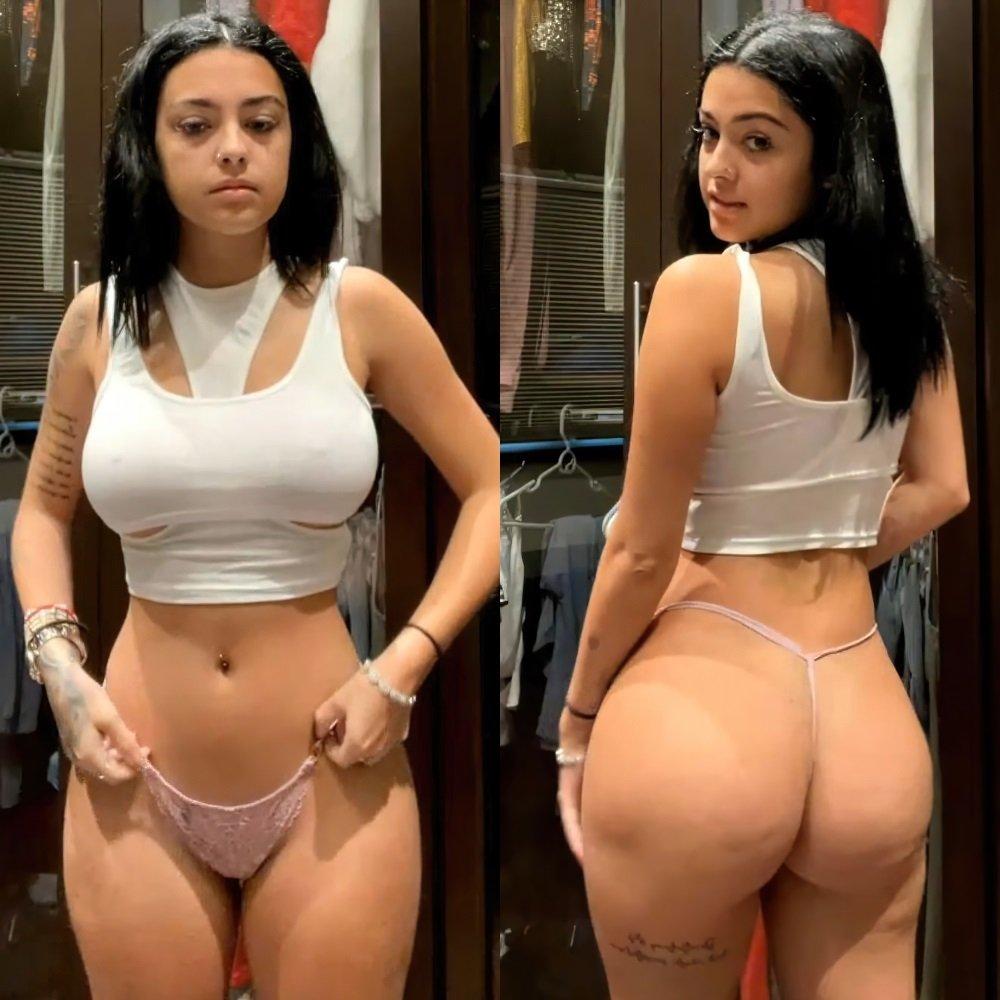 Malu Trevejo thong panties