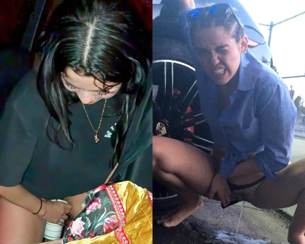 Selena Gomez peeing
